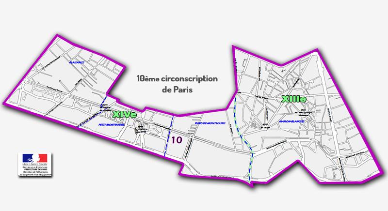 La 10e circonscription de Paris
