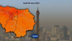 Paris-pollution Indice Airparif