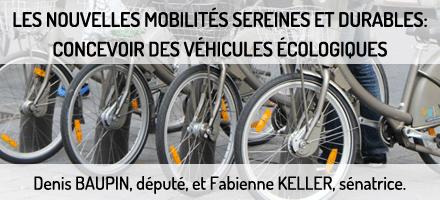 Le rapport sur les nouvelles mobilités sereines et durables : concevoir des véhicules écologiques