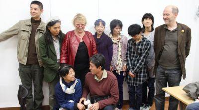 Avec les parents de Fukushima