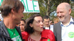 A la marche pour le climat avec Nicolas Hulot et Emmanuelle Cosse.