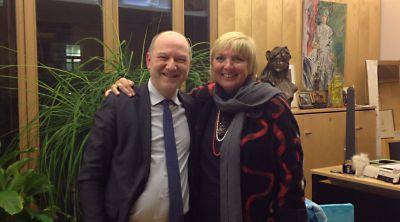 Avec mon homologue Claudia Roth, Grünen, vice-présidente du Bundestag