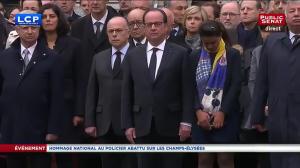 Hommage à Xavier Jugelé, policier assassiné sur les Champs-Élysées en avril 2017